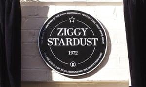 David Bowie Ziggy Stardust plaque