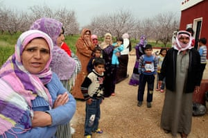 Syrian Refugees: Lebanese farmers, who have fled their homes