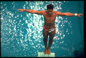 Olympic moments: LOUGANIS USA SPRINGBOARD DIVING