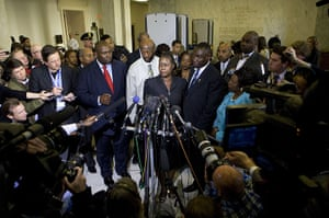 Trayvon Martin march: Tracy Martin and Sybrina Fulton speak to the media on Capitol Hill