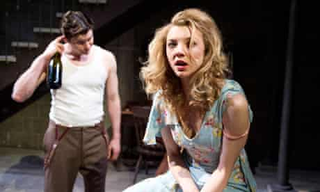 Kieran Bew and Natalie Dormer in After Miss Julie at the Young Vic