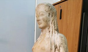 Ancient Greek statue unearthed in goat pen