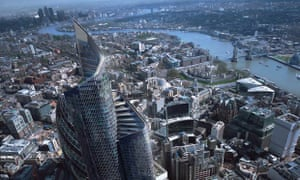An artist's impression of the Pinnacle, a skyscraper under construction in London.