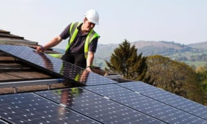 Fitting solar pv panels to house roof