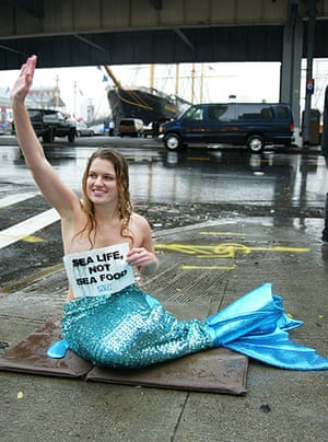 Hoaxes: Topless Mermaid Protest In Manhattan