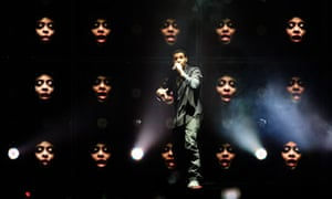 Drake onstage at the O2 arena.