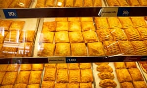 Hot takeaway food at a Greggs bakery, where petitions against the 'pasty tax' will be available