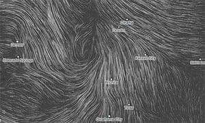 Wind map of America
