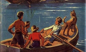 cover of the first Famous Five book, Five on a Treasure Island
