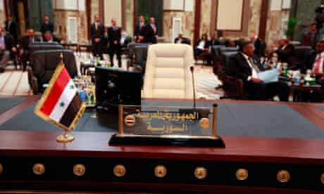 Syria's empty seat at the Arab League 29/3/12