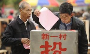 Residents vote in Wukan