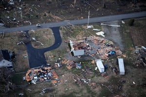 Tornado Updated: Storm damage in an area between Henryville and Marysville