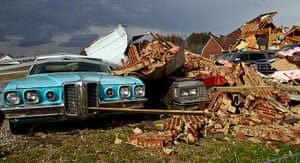 Tornado Updated: The tornado left a path of destruction as it passed through Athens, Alabama