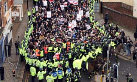 EDL protest in Luton