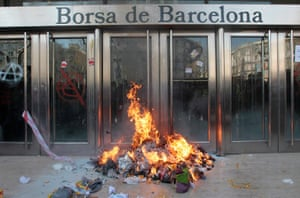 Barcelona: 24-hour general strike in Spain