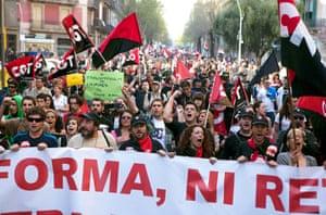 Barcelona: General strike in Barcelona, Spain - 29 Mar 2012