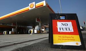A shut petrol station in Brighton.