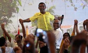 Ousted Maldivian president Mohamed Nasheed