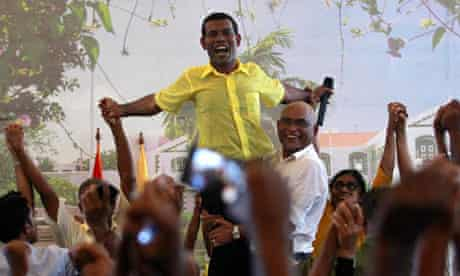 Ousted Maldivian president Mohamed Nasheed