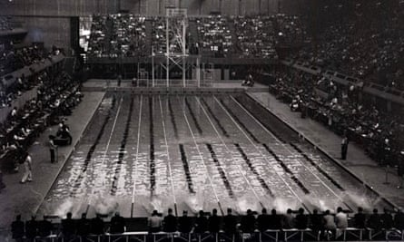 The Empire pool during the 1948 Olympics