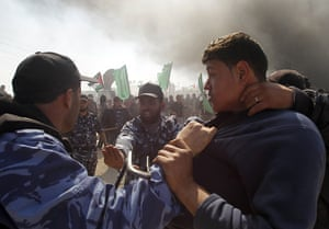 Land Day protests: Members of Hamas security forces prevent Palestinian protesters