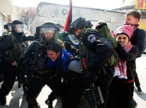 Land Day protests: Protesters scuffle with Israeli security forces during clashes, Ramallah