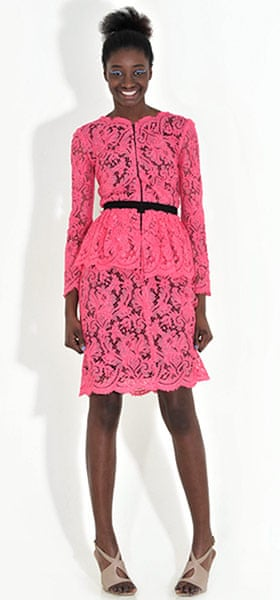 Line-up: peplums: Lace dress