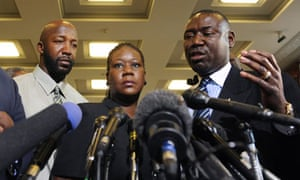 Trayvon Martin parents and Daryl Parks