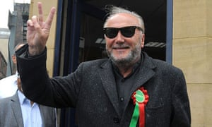 George Galloway after his victory in the Bradford West byelection