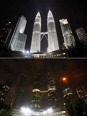 Earth Hour: The Petronas Twin Towers during Earth Hour