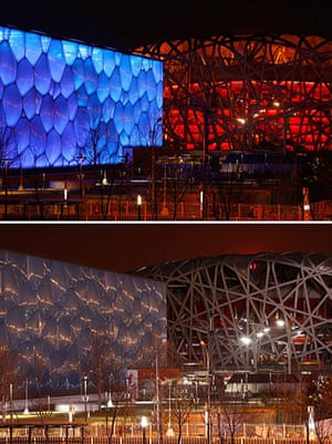Earth Hour: China's National Stadium during Earth Hour