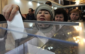 Russian election: Bishkek: Russian citizens vote in Russia's president election
