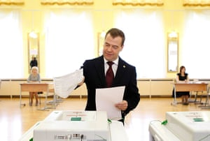 Russian election: Moscow: Russian President Dmitry Medvedev