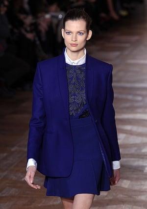 Paris - Stella McCartney: Dutch model Bette Franke presents a creation by Stella McCartney