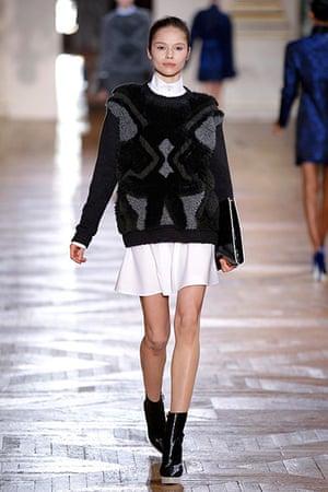 Paris - Stella McCartney: A model presents a creation by British designer Stella McCartney