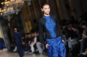 Paris - Stella McCartney: A model walks the runway during the Stella McCartney show