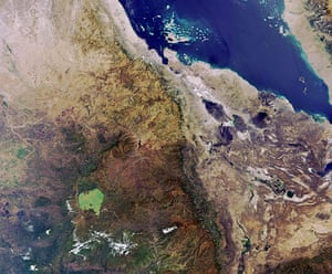 Satellite Eye on Earth:  Horn of Africa shows parts of Ethiopia, Eritrea, Djibouti