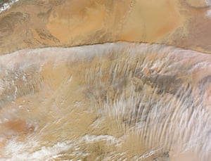 Satellite Eye on Earth: Spectacular image of clouds across southern Algeria