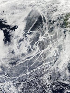 Satellite Eye on Earth: Ships trails