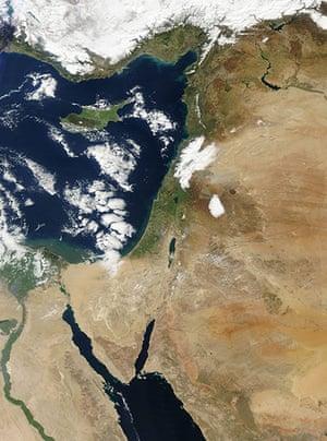 Satellite Eye on Earth: a severe storm blasted the Lebanese coast
