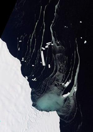 Satellite Eye on Earth: northeastern edge of Antarctica's Amery Ice Shelf lies Mackenzie Bay