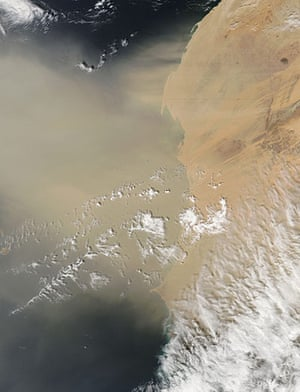 Satellite Eye on Earth: A dust plume blew off the coast of western Africa