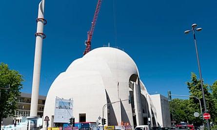 Cologne Central Mosque under construction