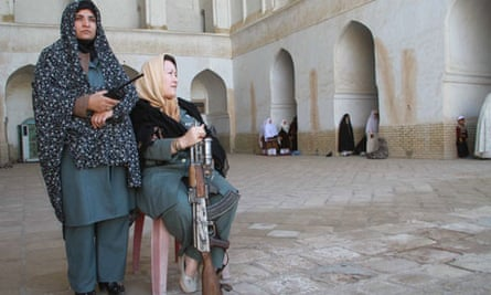 Afghan women in the police