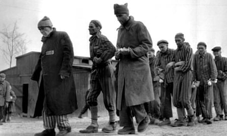 Survivors of Buchenwald after the camp's liberation