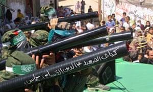 Hamas rocket launchers