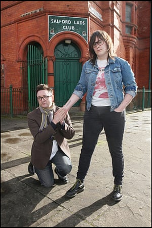 Recreation of Smiths Pic: Recreation of Smiths Salford Lads Club Photo with lookalikes