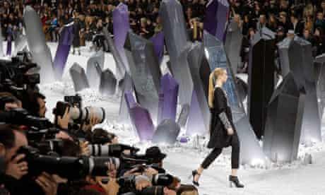Chanel designer Karl Lagerfeld turned Paris's Grand Palais into Krypton