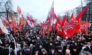 Russian protesters in Pushkin Square