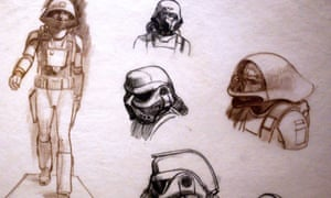 Original sketches of Imperial Stormtroopers